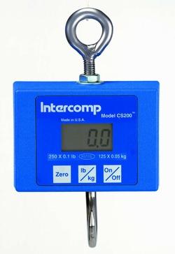 Intercomp CS 200 digital hanging scale 500 pound max capacity