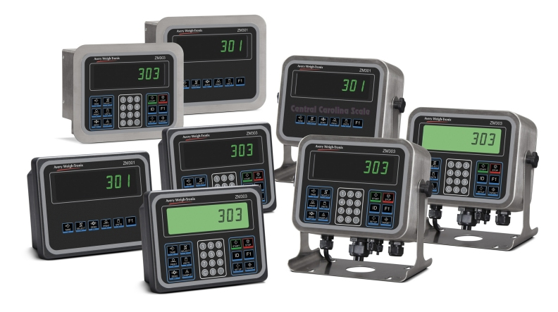 ZM301 and ZM303 digital weight indicator family from Weigh-Tronix