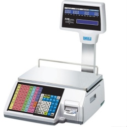 cas cl5000 label printing scale
