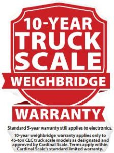 cardinal scale extended warranty for truck scale