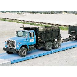 steel deck above ground truck scale