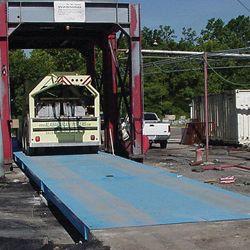 scale test truck on platform