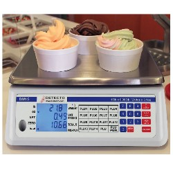 frozen yogurt scale that displays weight in oz