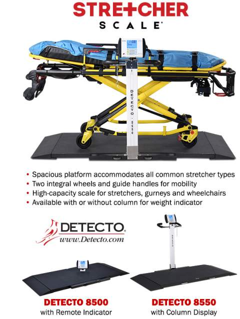 detecto 8500 portable stretcher scales