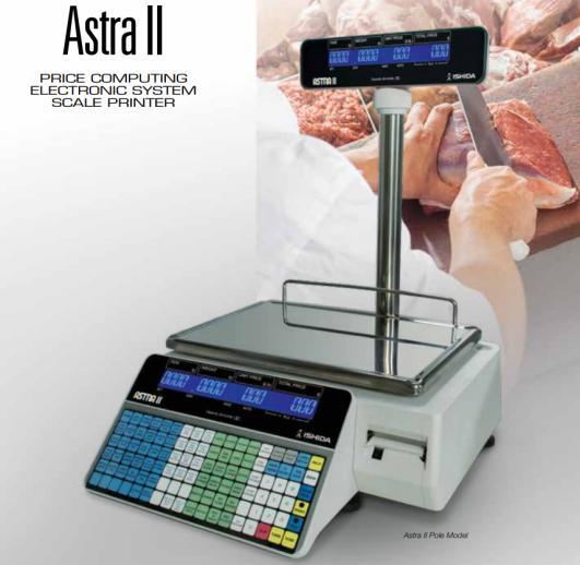 ishida astra ii label printing scale