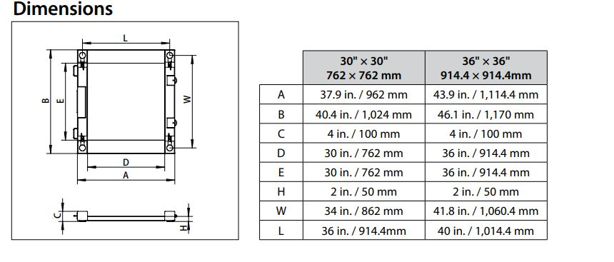 ohaus drum scale dimensions