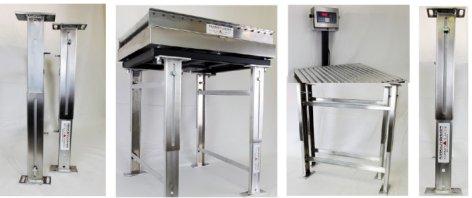 6400 scale platform adjustable stand