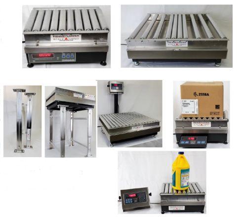 conveyor and rollertop scales