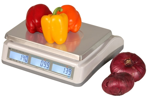 Price Computing Scale with battery power ideal for fruits, vegetables, yogurt and produce.