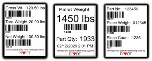 pennsylvania scale label format