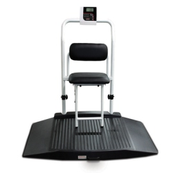 Rice Lake 350-10-4 Dual-ramp Wheelchair Scale with Seat