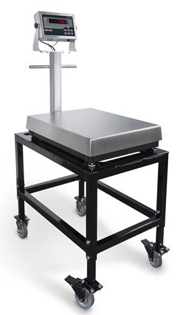 rice lake mobile bench scale cart