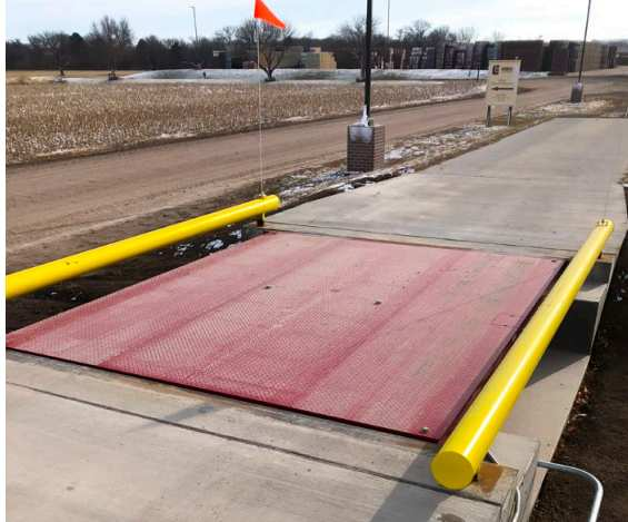 axle scale platform
