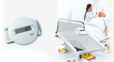 seca 984 digital bed scale for weighing patients while in bed