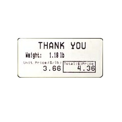 CAS Label LST-8060 55 x 25mm