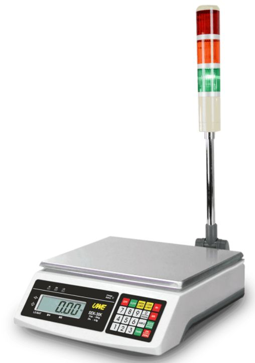 uwe sek checkweigher with light tower